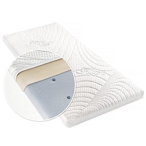 Alvi Matratze für Beistellbett & Wiege Tencel & Dry - 90x40 cm Babymatratze mit Funktionsbezug mit Nässeschutz und Luftkanälen - ÖkoTex geprüft, atmungsaktiv, allergikergeeignet